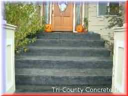 Nice Stamped Concrete, Click View Job Button